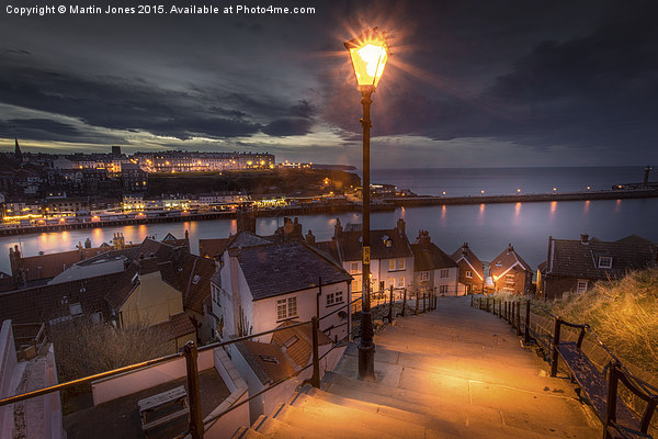 A Whitby Evening Canvas print by Martin Jones
