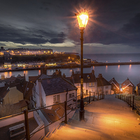 Buy canvas prints of  A Whitby Evening by Martin Jones