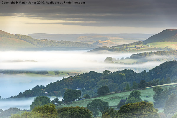 Morning Mist Magic Canvas print by Martin Jones