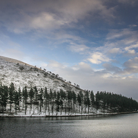 Buy canvas prints of  Winter over Howden by Martin Jones