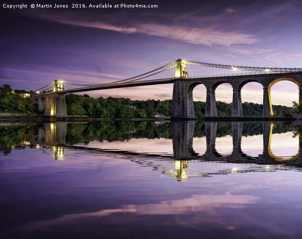 Telford's Masterpiece - Gateway to Anglesey Canvas print by Martin Jones