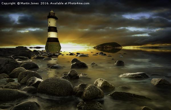 Penmon - Sunset over Puffin Island Canvas print by Martin Jones