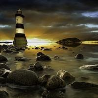 Buy canvas prints of Penmon - Sunset over Puffin Island by Martin Jones