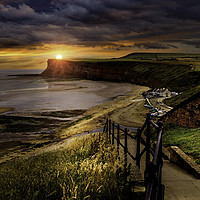 Buy canvas prints of The Cliffs of Saltburn by Martin Jones