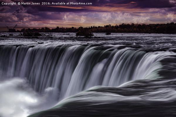 The Horseshoe Falls at Niagara Canvas print by Martin Jones