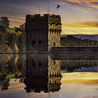 Buy canvas prints of Autumn at Derwent Dam by Martin Jones