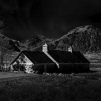 Buy canvas prints of Glencoe and Buachaille Etive Mòr by Moonlight by Martin Jones