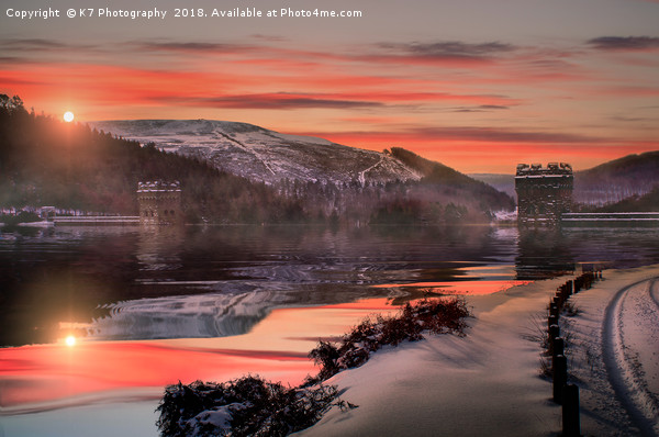 Winter over the Derwent Dam Canvas print by K7 Photography