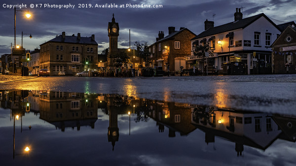 Thirsk Market Place after an Evening Downpour  Canvas print by K7 Photography