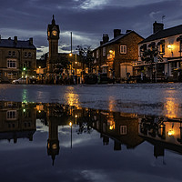 Buy canvas prints of Thirsk Market Place after an Evening Downpour  by K7 Photography