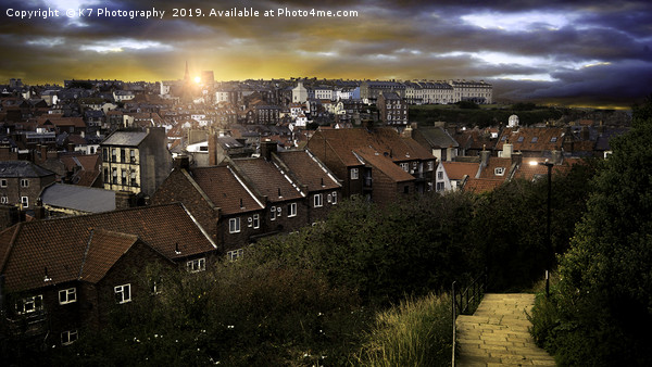 Dawn over Whitby Canvas print by K7 Photography