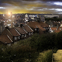 Buy canvas prints of Dawn over Whitby by K7 Photography