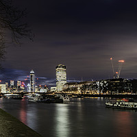 Buy canvas prints of The Lambeth Embankment - Parliament View by K7 Photography
