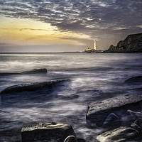 Buy canvas prints of St Marys Lighthouse from Old Hartley  by K7 Photography