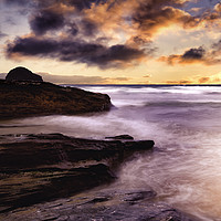 Buy canvas prints of Trebarwith Strand, Cornwall by K7 Photography