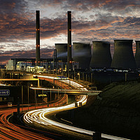 Buy canvas prints of Rivers of Light at Ferrybridge by K7 Photography