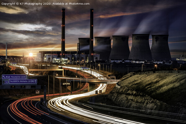 Ferrybridge Power Station  Canvas Print by K7 Photography