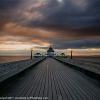 Buy canvas prints of Clevedon Pier at Sunset by Nigel Bangert