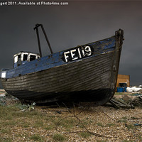 Buy canvas prints of Dungeness Fishing Boat by Nigel Bangert