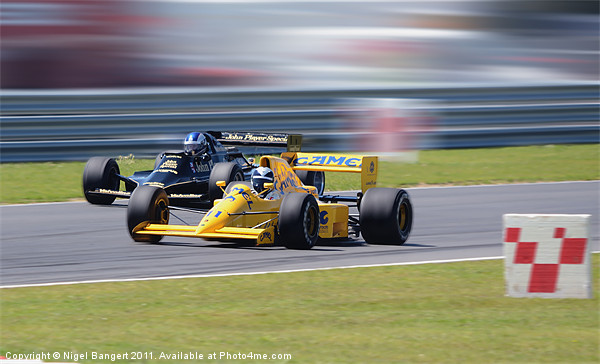 Lotus Type 79 and 102T Canvas print by Nigel Bangert