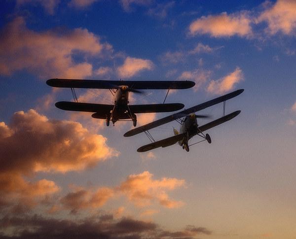 Hawker Nimrod Bi-planes Canvas Print by Nigel Bangert