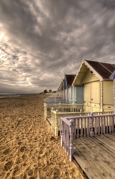 Mersea Island Beach Huts Canvas Print by Nigel Bangert