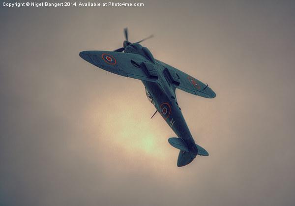 Reconnaissance Spitfire PL965R MkXI Canvas print by Nigel Bangert