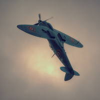 Buy canvas prints of   Reconnaissance Spitfire PL965R MkXI by Nigel Bangert