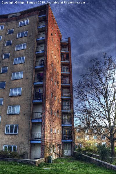 The Lawn Balconies  Canvas print by Nigel Bangert