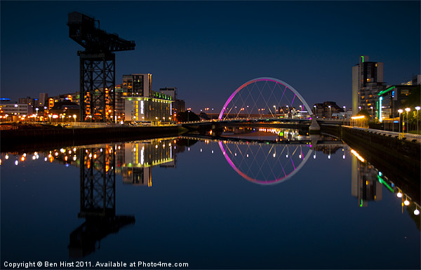 Clyde Reflections Canvas print by Ben Hirst