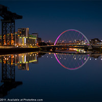 Buy canvas prints of Clyde Reflections by Ben Hirst