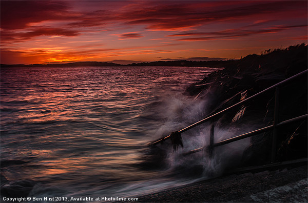 Monifieth Sunset Canvas print by Ben Hirst