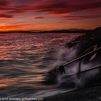 Buy canvas prints of Monifieth Sunset by Ben Hirst
