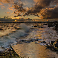 Buy canvas prints of Stormy seas at Monifieth by Ben Hirst