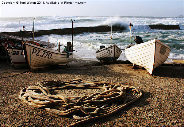 High Tide in Sennen Cove Canvas print by Terri Waters