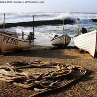 Buy canvas prints of High Tide in Sennen Cove by Terri Waters