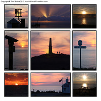 Buy canvas prints of Cornish Sunsets by Terri Waters