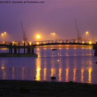 Buy canvas prints of Sunset at Southampton Docks by Terri Waters