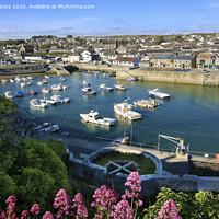 Buy canvas prints of Looking Down at Porthleven Inner Harbour by Terri Waters