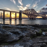 Buy canvas prints of Forth Bridge Sunset by Alasdair Preston