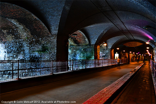 The Dark Arches Canvas print by Colin Metcalf