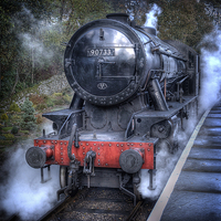 Buy canvas prints of Under Steam Again. by Colin Metcalf