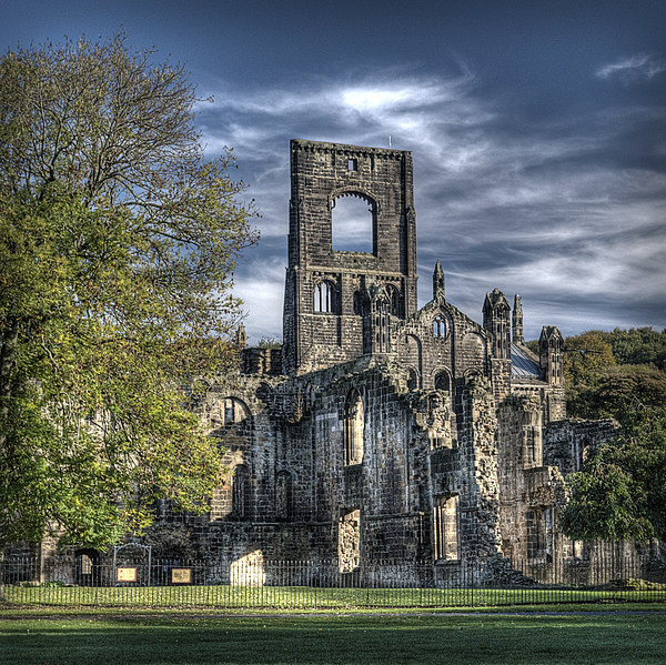 Kirkstall Abbey Canvas print by Colin Metcalf