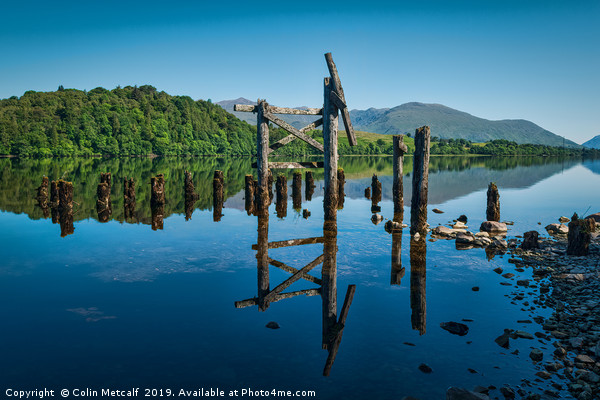 The Old Jetty, Loch Awe. Canvas print by Colin Metcalf