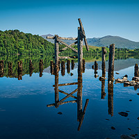 Buy canvas prints of The Old Jetty, Loch Awe. by Colin Metcalf