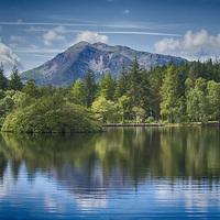 Buy canvas prints of The Lochan Glencoe by Geo Harris