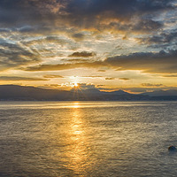 Buy canvas prints of Dunoon Sunset by Geo Harris