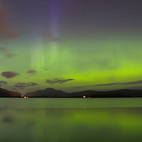 Buy canvas prints of  Loch Lomond Aurora by Geo Harris