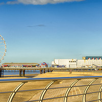 Buy canvas prints of The North Pier Blackpool by Linsey Williams