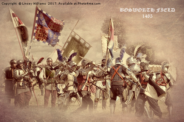 Bosworth Battlefield Re-enactment Canvas print by Linsey Williams